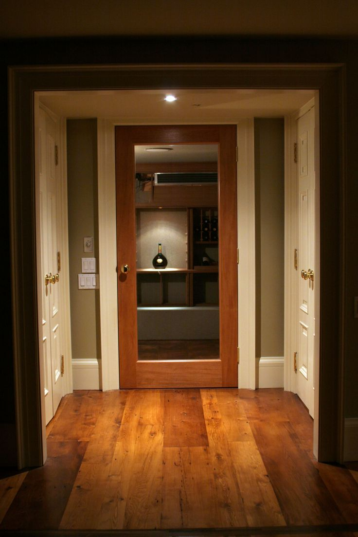 This Gorgeous Amberwood Cherry Interior Door Opens Into A Charming Wine  Cellar!