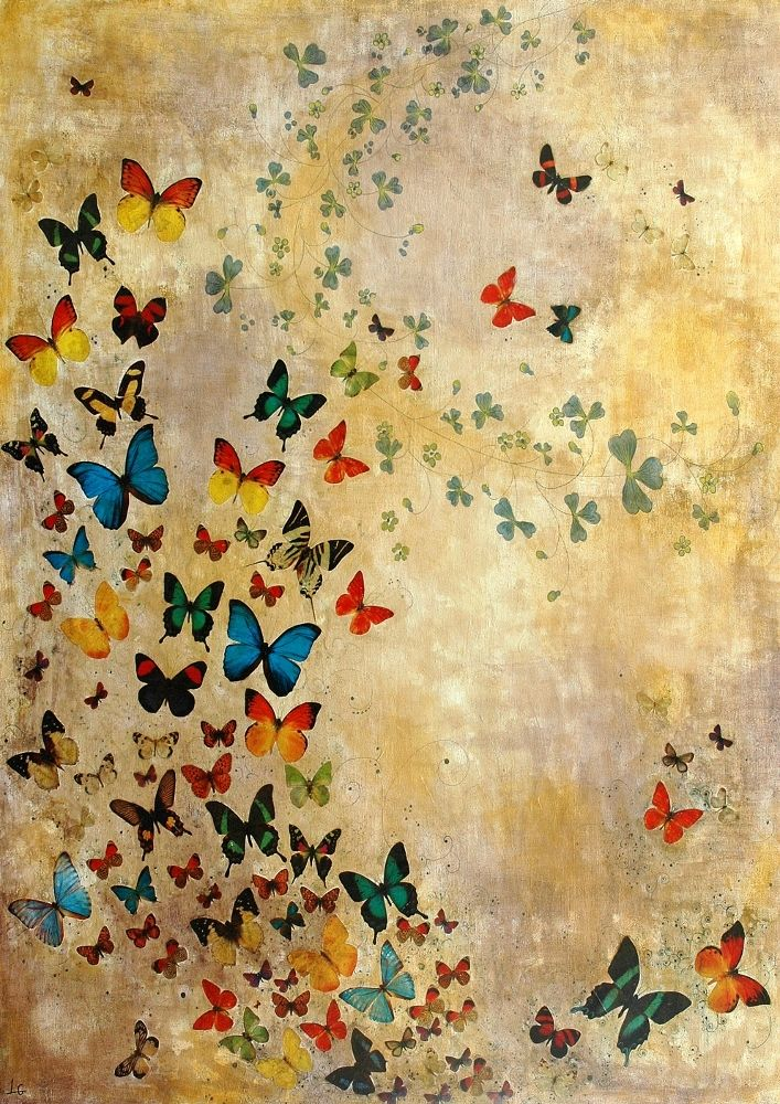 Lily Greenwood Signed Giclée Print - Summer Butterflies (A4/A3/A2) | Lily Greenwood