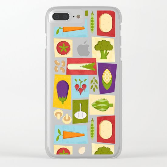 Shop clear iPhone cases featuring brilliant patterns and designs on frosted, transparent shells - created by the world's best independent artists. #kitchendecor #vegetables #society6 #miavaldez #chef #food #cleariphone