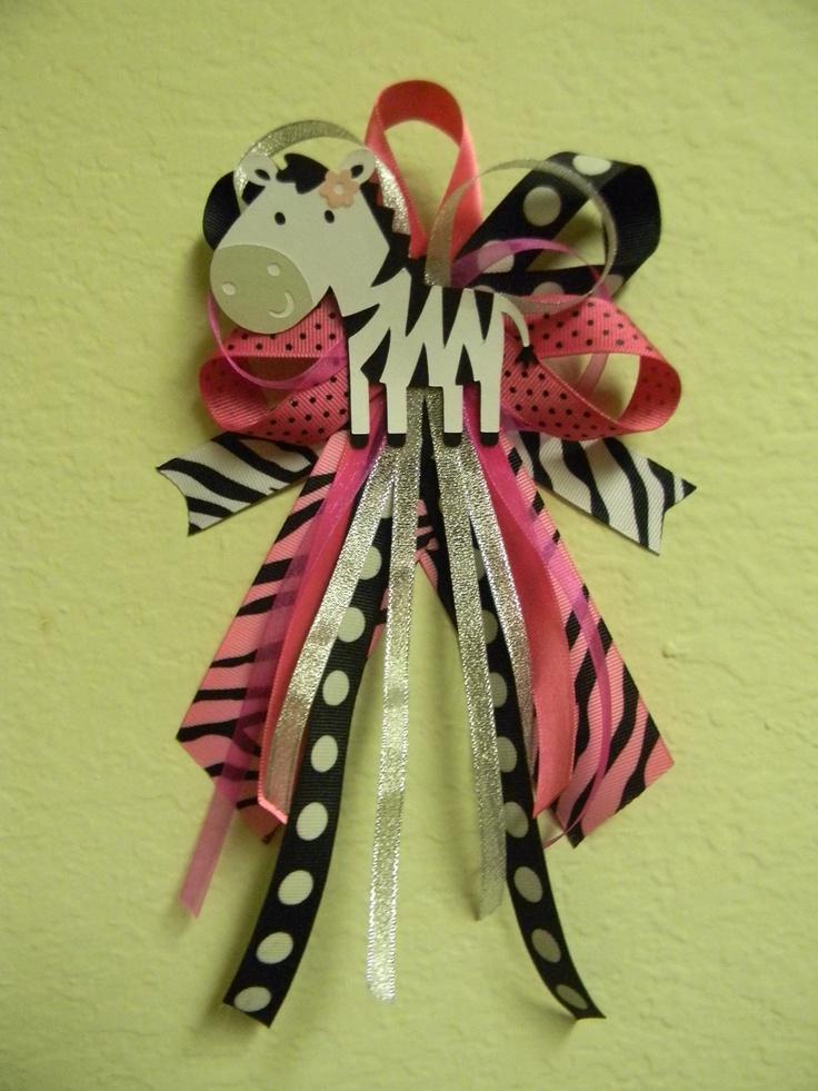 pink shower pin zebra baby showers corsage 12 12 00 baby shower