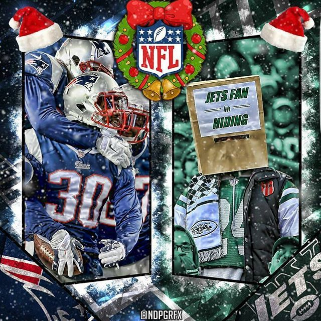 @ndpgrfx Merry Christmas and Happy Hanukkah Patriot Nation!!! This year, like most years, is a time for reflection and appreciation.  For  family and friends of course, but this extends to our beloved Patriots who bring us so much joy and happiness, as we quietly sit on top of the football world with a sense of satisfaction for sure, but also with an anticpation for even more greatness and memories.  Be safe and enjoy the holidays PatsNation! #patriots #patsnation
