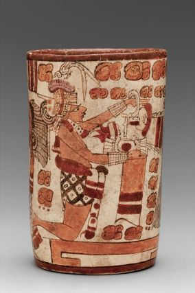 Cylinder vase      Maya, Late Classic Period, A.D. 600–750       Department of El Petén, Guatemala