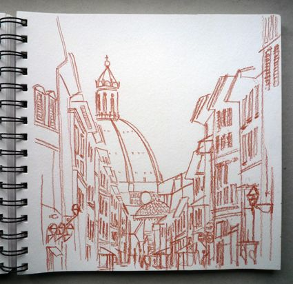 my florence sketchbook | chris cowdrill's blog