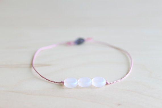 Friendship bracelet/ dainty bracelet/ moon by HandsLoveJewelry