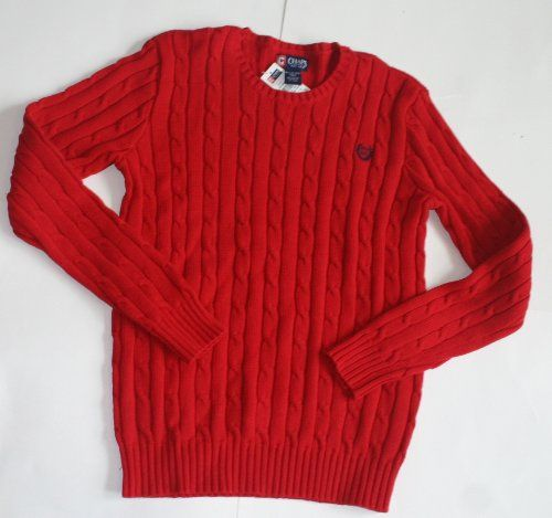 Chaps Boy's Pullover Sweater - Red - Size: XL 18/20