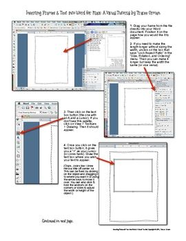 How To Use Frames & Text in Microsoft Word