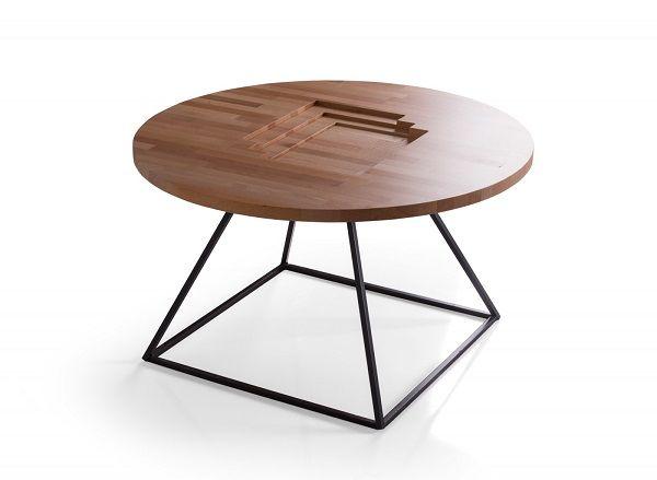 Completeaza livingul tau cu o masuta de cafea moderna. Designul unic al mesei Loren nu poate trece neobservat! #inspiring #comfort #wood #SomProduct