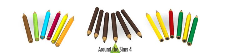 Around the Sims 4 | Free Custom Content for the Sims 4 | Object Download | School Acccessories
