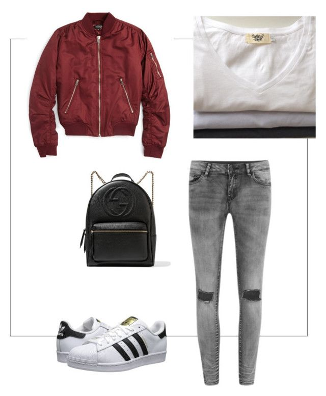 Hunter and chase t-styling by hunter-chase on Polyvore featuring polyvore, Topshop, VILA, adidas Originals, Gucci, fashion, style, clothing, casual and basics