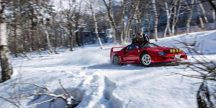 Red Bull Filmed An F40 Rallying Through Japanese Snow Because Of Course It Did - Petrolicious
