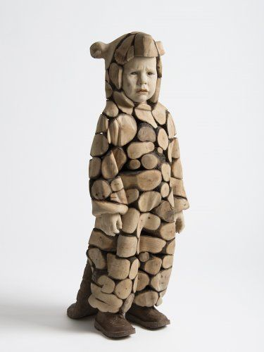 Castor' wooden sculpture . Artist: Efraïm Rodríguez