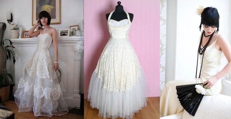 wedding dresses vintage   Vintage Bridal Dresses Styles and Designs (10)