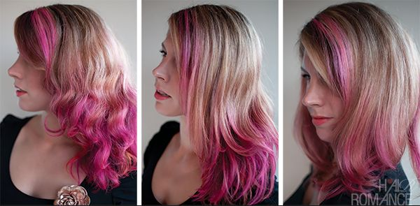 Hair Romance pink hair dye fade over 3 washes
