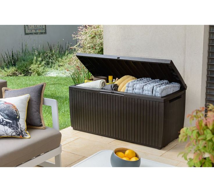 Buy Keter Springwood Garden Storage Box - Brown at Argos.co.uk, visit Argos.co.uk to shop online for Garden storage boxes and cupboards, Conservatories, sheds and greenhouses, Home and garden