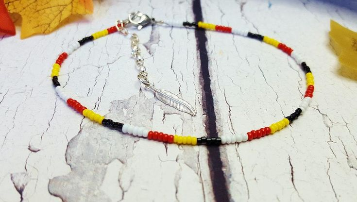 4 Tribes Of Man Simple Indian Ankle Bracelet ~ Dainty Yoga Ankle Bracelet ~ Native Indian Anklet ~ Sister In Law Gift, Xmas Gift For Her