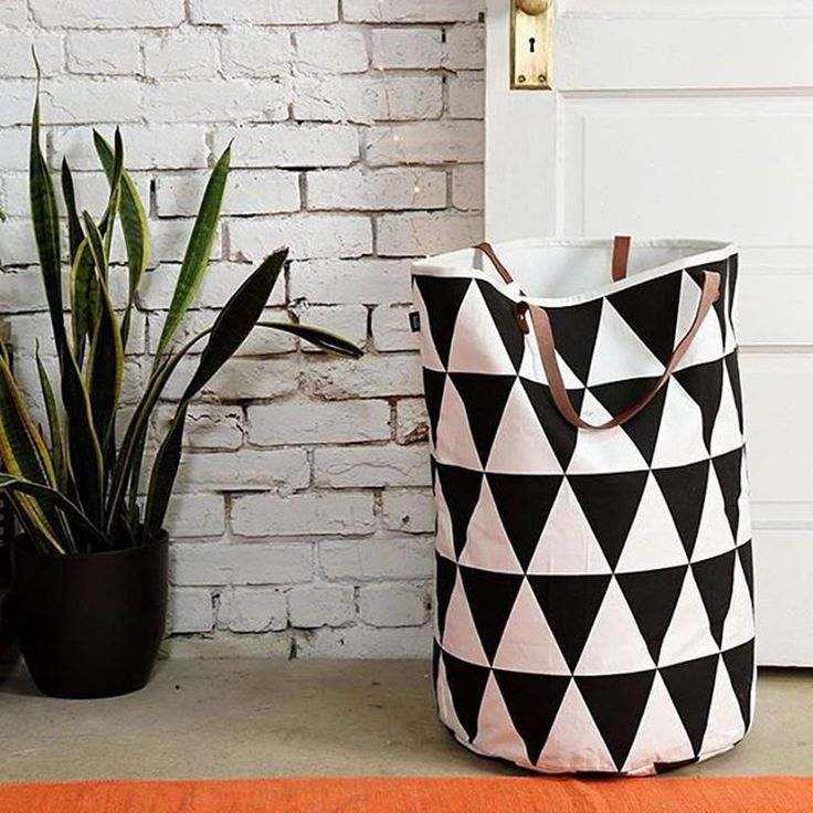 Semicircle Grid Pattern handbag,baby kids Toy Clothes Canvas Laundry basket storage bag With Leather Handles For Room Decor-in Storage Baskets from Home, Kitchen & Garden on Aliexpress.com | Alibaba Group