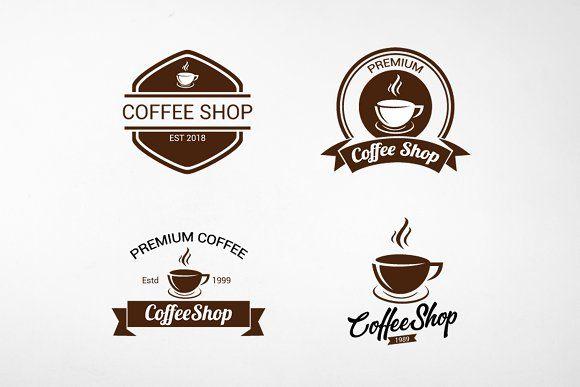 Vintage Coffee Logo And Badges Motivasi Wallpaper Ponsel