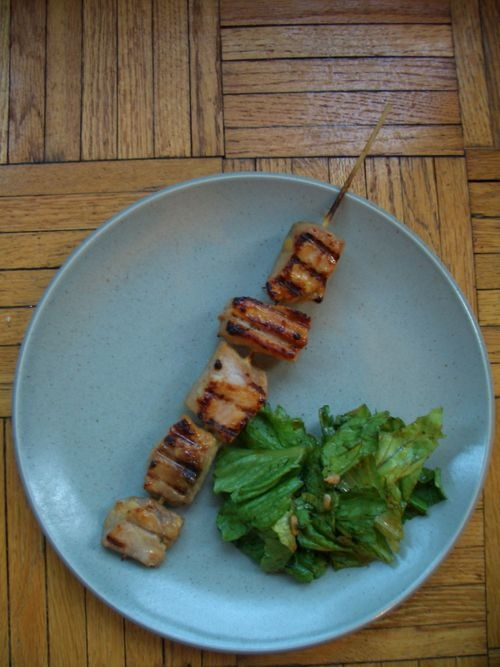 Tiger In the Kitchen: Miso-Glazed Tuna Kebabs
