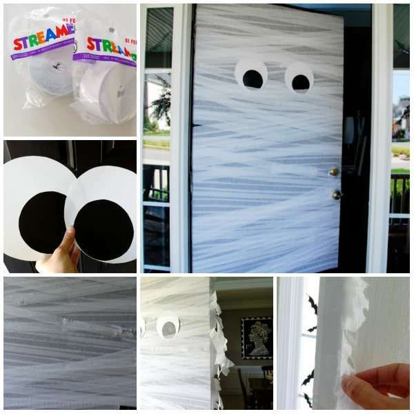 13 d corations de porte d 39 entr e pour un halloween trop bouh for Decoration porte halloween