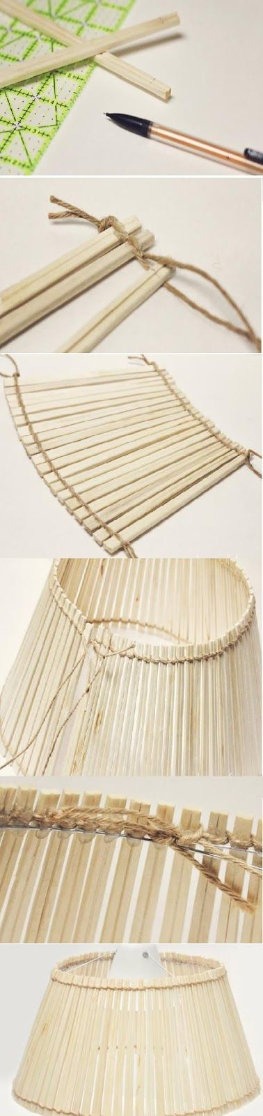 Chopstick lampshade tutorial | diy craft TUTORIALS