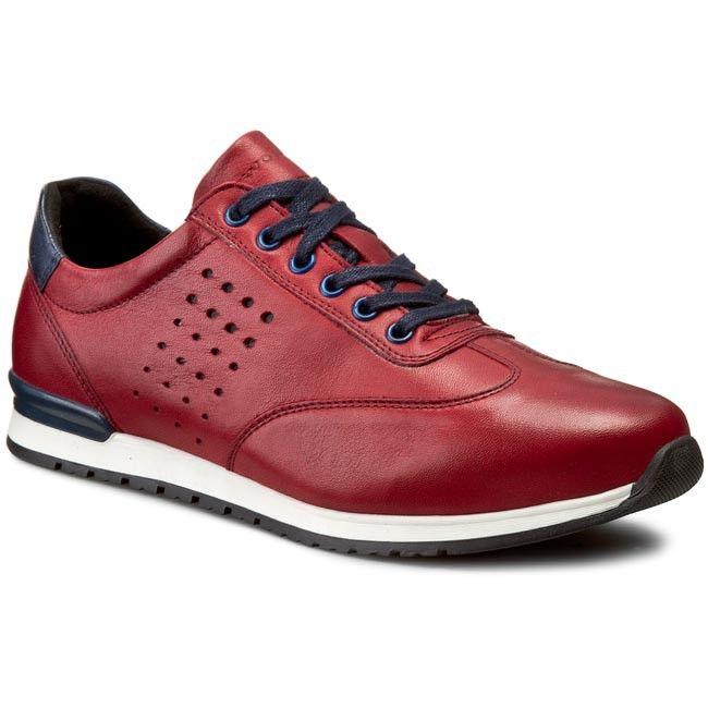 Sneakersy WOJAS - 5081-55 Czerwony/Granatowy