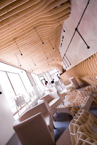 A Cafe Constructed Entirely Of Plywood Ribs | Co.Design | business + design