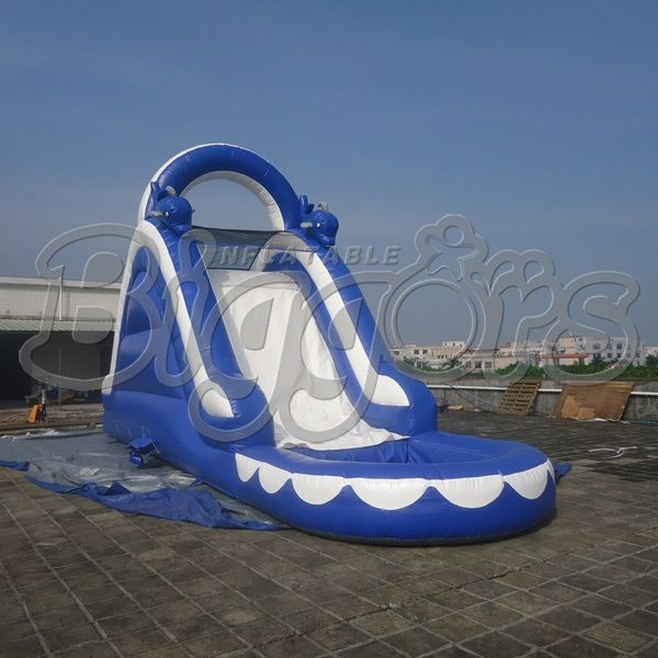 FREE SHIPPING BY SEA Popular Commercial Inflatable Water Slide Inflatable Jumping Slide With Pool