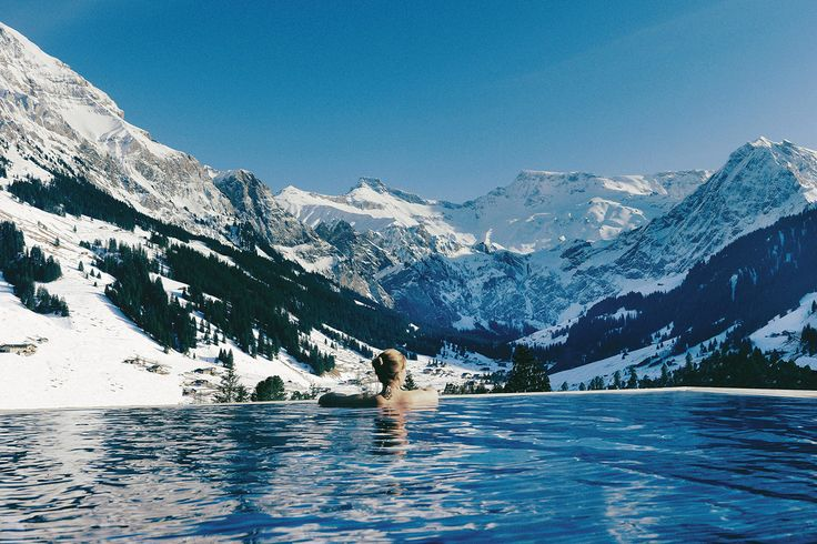 A log cabin in the mountains with an infinity hot tub (or a standing reservation at The Cambrian Hotel in the Alps)