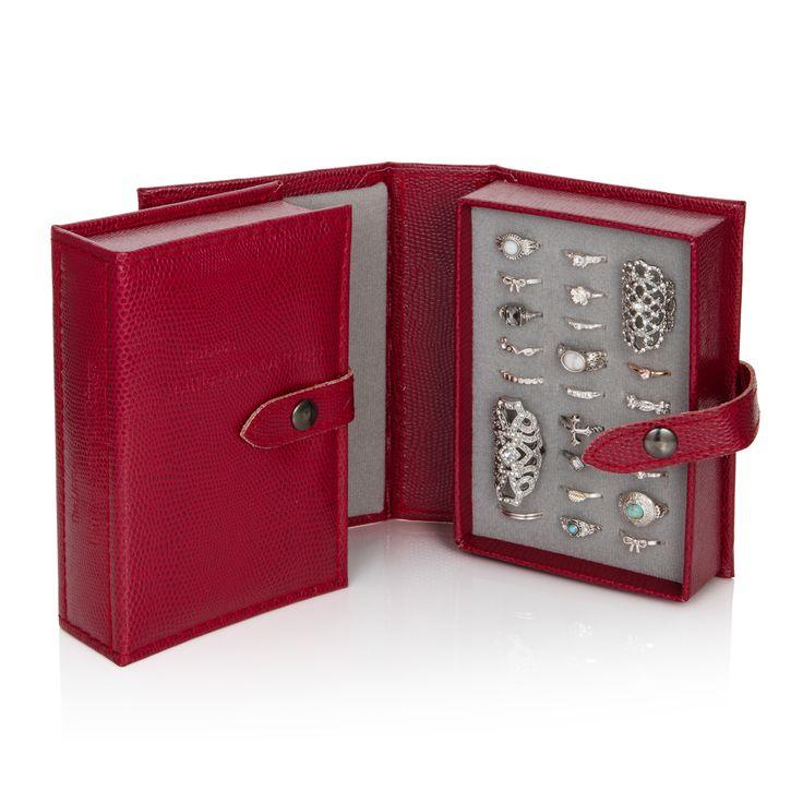 Little Book of Earrings - Dark Red