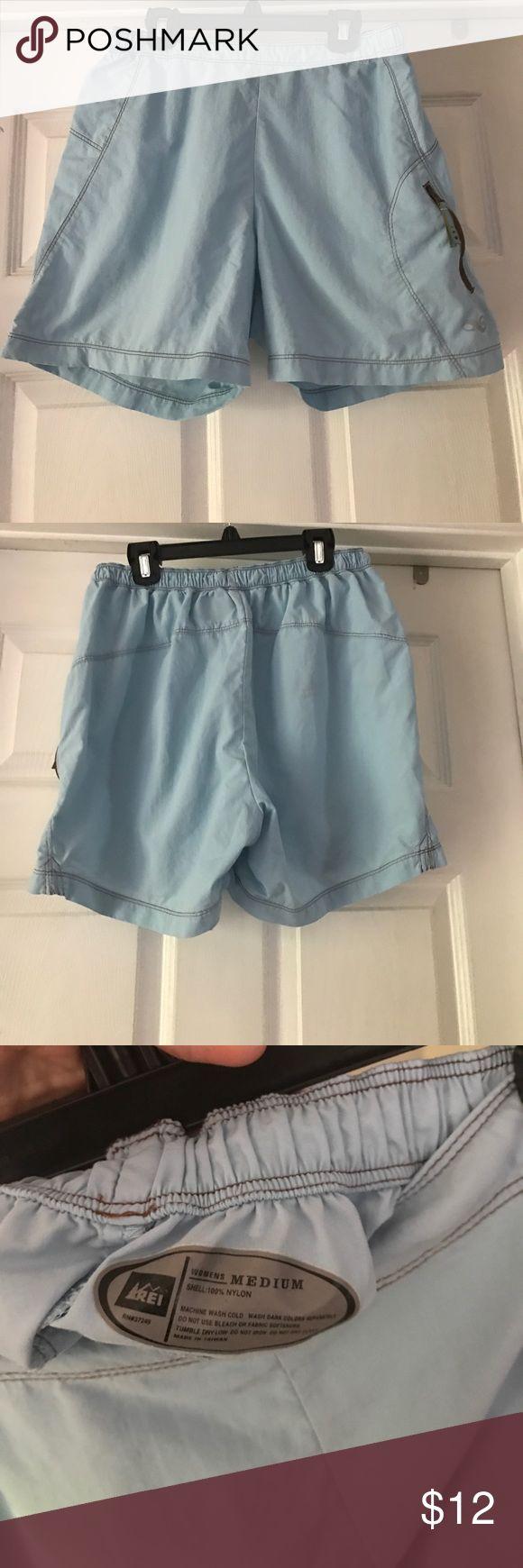 REI light blue shorts Nylon REI Shorts