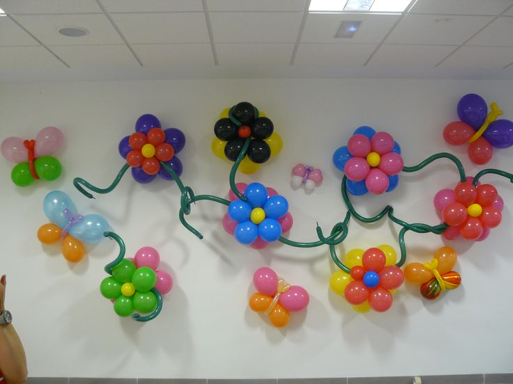 Flores y mariposas decoraci n globos fiestas pinterest - Decoracion con mariposas ...