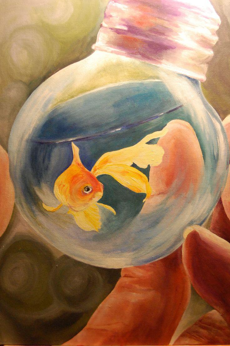 Style selections eva peva print multi fish shower curtain at lowes com - Goldfish