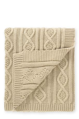 Buy Natural Chunky Knit Throw from the Next UK online shop