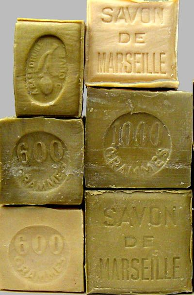 I picked up a 1-kilo block of savon de marseille last summer in France. It's great for the skin