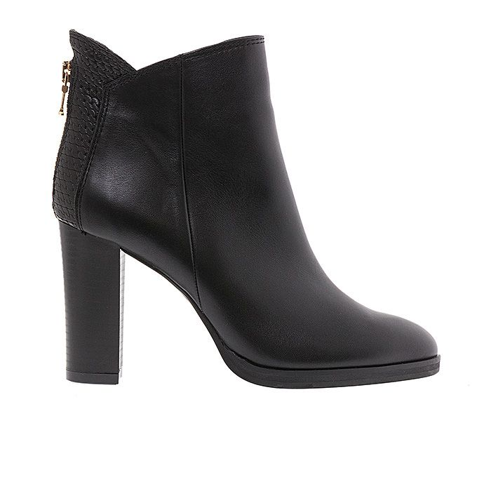 80214-BLACK LEATHER #mourtzi #ankleboots #booties