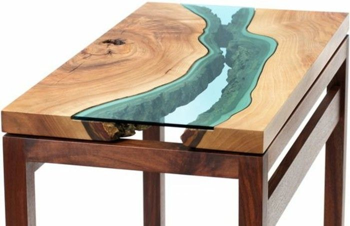 00 table basse fly table bois et verre