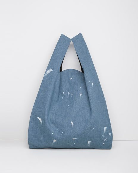 MM6 by Maison Margiela   Painted Denim Tote