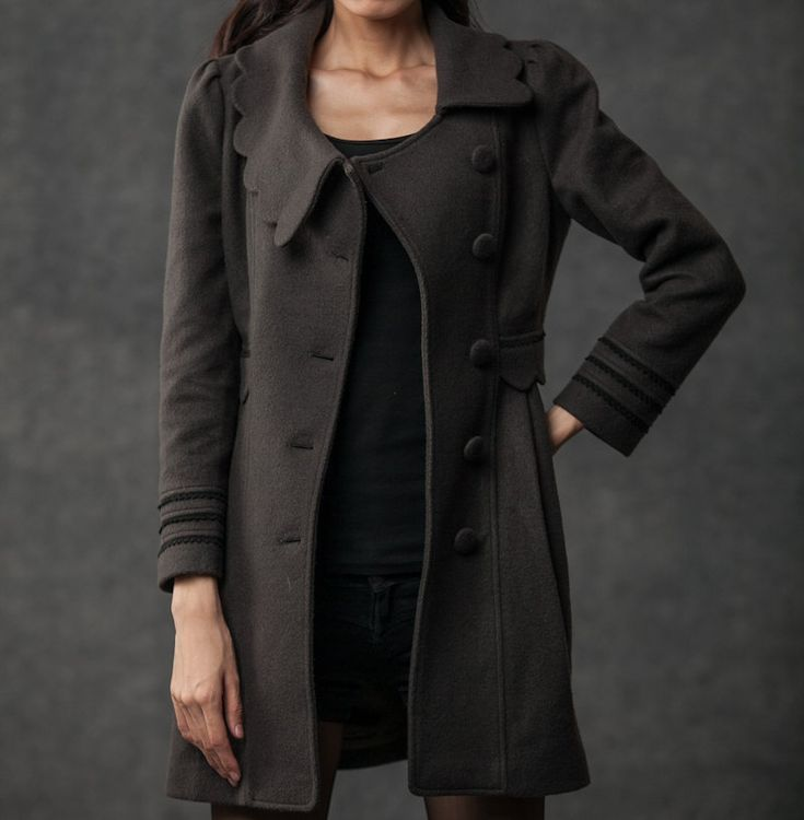 Gray coat winter women jacket (a favourite repin of VIP Fashion Australia www.vipfashionaustralia.com - Specialising in unique fashion, exclusive fashion, online shopping sites for clothes, online shopping of clothes, international clothing store, international clothes shop, cute dresses for cheap, trendy clothing stores, luxury purses )