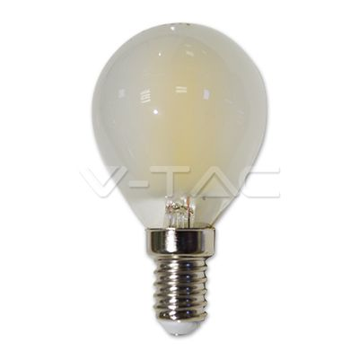 2,52€ Lampadina LED - 4W Filament E14 P45 Opaco 2700K  SKU: 4492 | VT: VT-1835    Lampadina LED - 4W Filament E14 P45 Opaco 4000K  SKU: 4493 | VT: VT-1835    Lampadina LED - 4W Filament E14 P45 Opaco 6400K  SKU: 4494 | VT: VT-1835