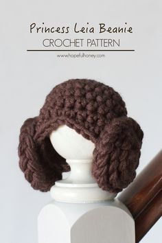 Princess Leia Inspired Beanie - Free Crochet Pattern~k8~ Begging Yolie to make this for me!!