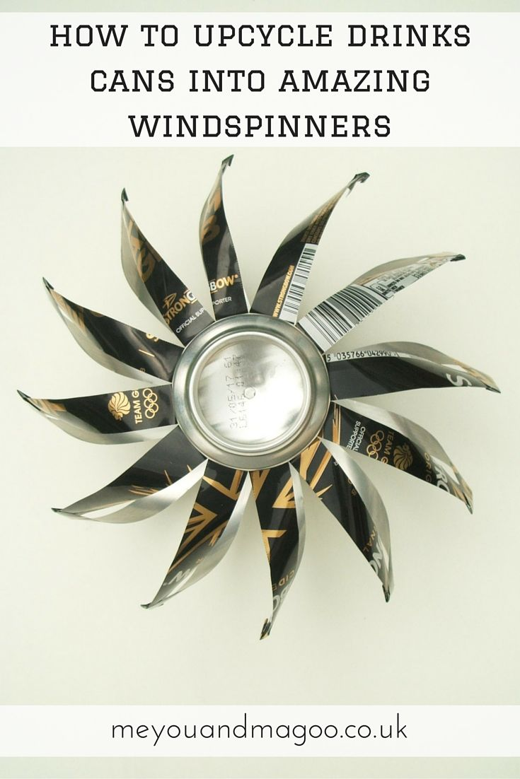 How to make amazing windspinners with upcycled drinks cans http://www.meyouandmagoo.co.uk/2016/06/how-to-make-amazing-upcycled.html I'm always looking for interesting decorations to put on our allotment. I had a go at making some wind spinners from soda cans. I'm really pleased with the results and wanted to share the making process in this tutorial. They are really simple to make and once you've made a couple, you'll get the hang of it. Enjoy!