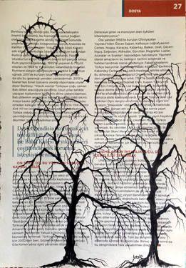 "Saatchi Art Artist Leyla Özlüoğlu; Painting, ""kiss my heart"" #art #illustration #drawing #oldpaper #picture #sketch #sketchbook #paper #pen #watercolor #book #gallery #musicpaper  #artoftheday #vintage"