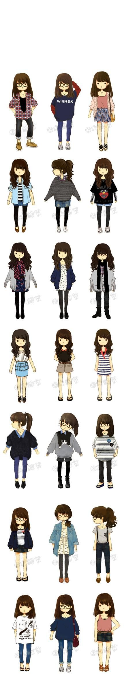 Illustrator นั่งมีฤดูกาลที่สดใหม่ขนาดเล็กที่มี  น้องสาวของ Hao 萌  ผู้เขียนหัวข้อ:  Cute and look easy enough to try or even sew urself