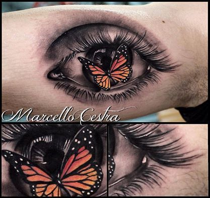 21 best images about tattoo artist marcello cestra on for Eye tattoo art