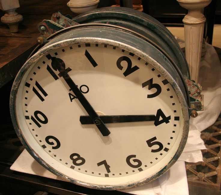 french vintage industrial double sided round ato slave clock sold