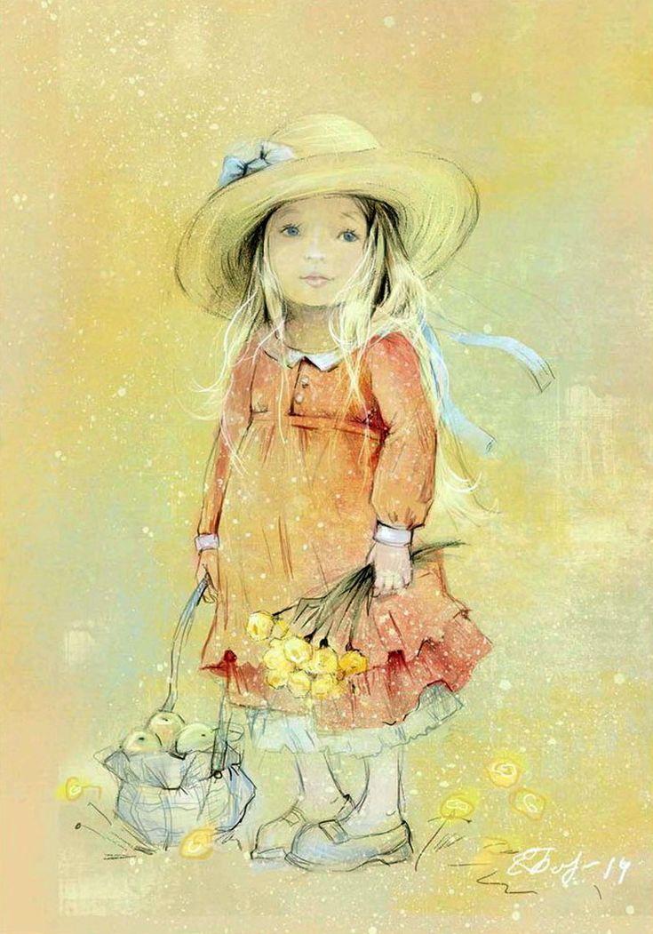Днем дошкольного, картинки от художницы