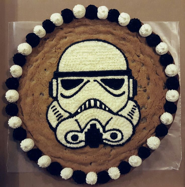 Storm Trooper Cookie Cake Cookie Cakes In 2019 Star