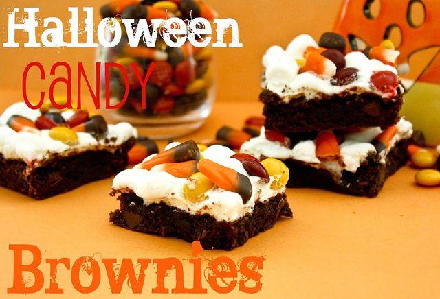 Halloween Candy BrowniesHalloween Desserts, Brownie Recipes, Halloween Candies, Halloween Candy, Halloween Boos Yummy, Brownies Recipe, Halloween Brownies, Fall Halloween Turkey, Candies Brownies