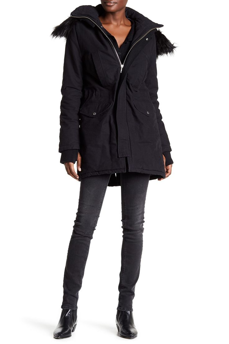 Karina Faux Fur Hooded Parka by Zadig & Voltaire on @HauteLook