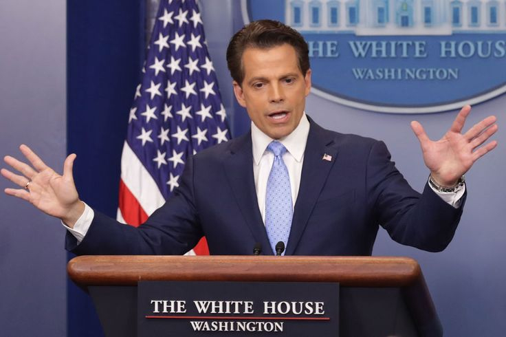 """Anthony Scaramucci made his debut at the White House press briefing on Friday, just hours after the surprise news of Sean Spicer's resignation as press secretary. Scaramucci, a frequent presence on Fox News, showed off some of the traits that may have won him the job as President Trump's White House communications director. He frequently praised Trump, saying he loved the president, and that he was """"very loyal"""" to him. ..."""